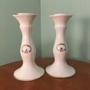 ☘️Donegal Parian Claddagh Tall Candlesticks☘️